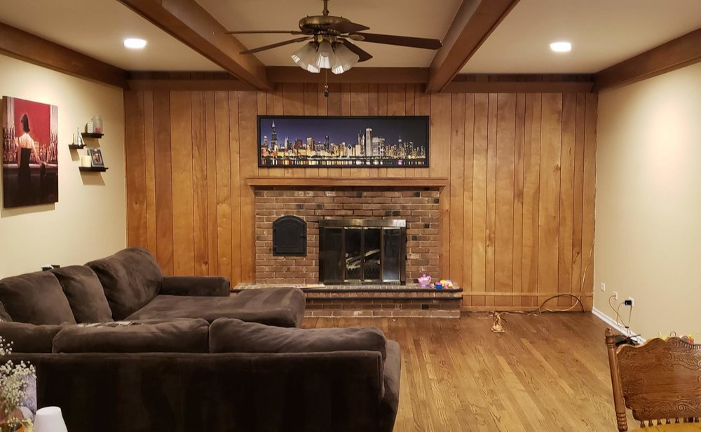 DIY Family Room Makeover | DIY Shiplap | Budget Fireplace Renovation