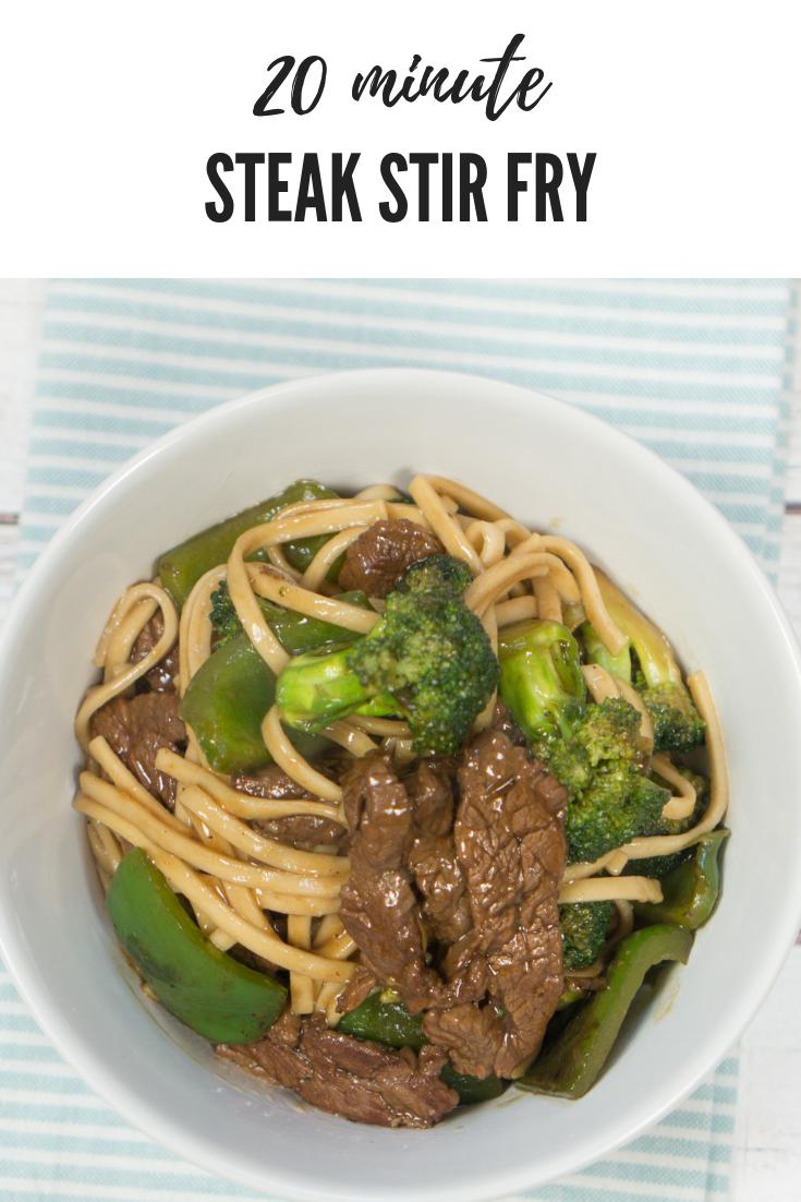 20 Minute Steak Stir Fry Dinner Recipe