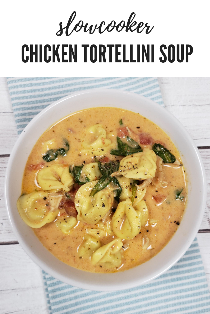 Slow Cooker Creamy Chicken and Tortellini Soup