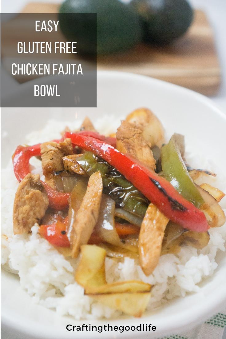 Easy 30 Minute Gluten Free Chicken Fajita Bowls