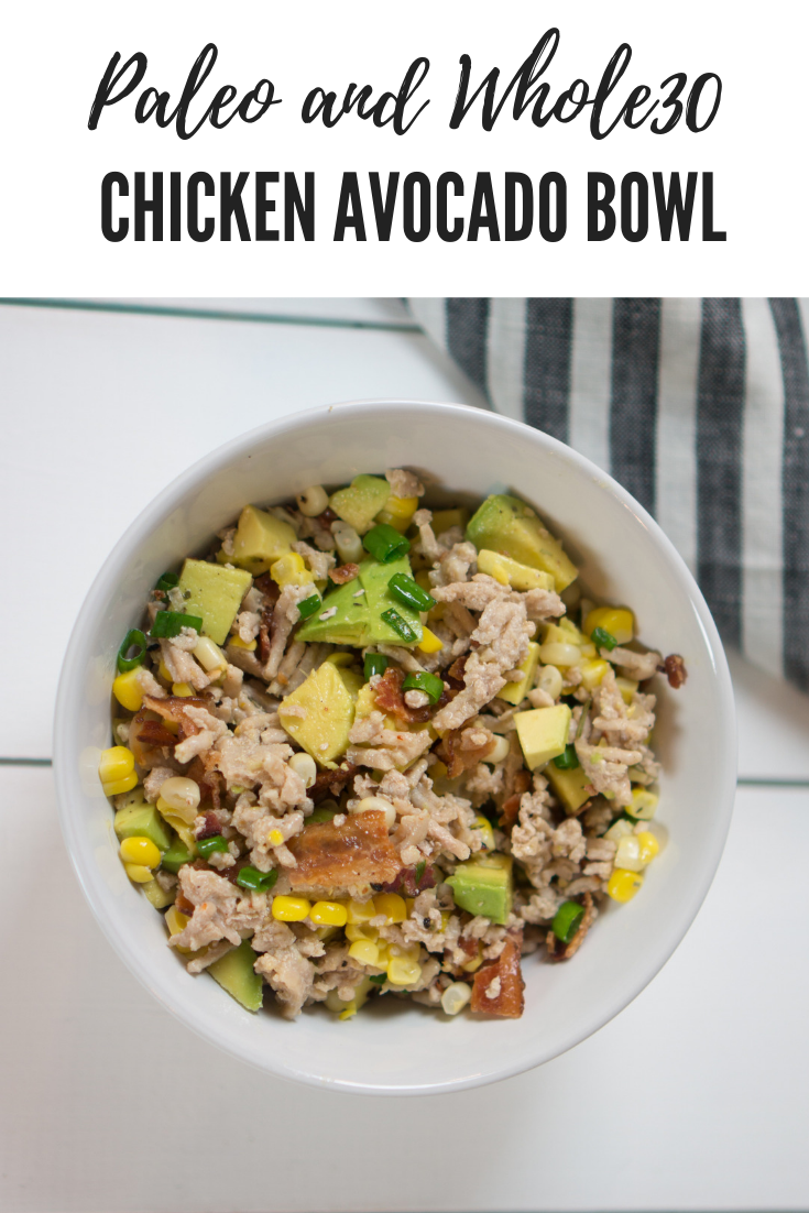 Easy Paleo and Whole30 Chicken and Avocado Lunch Salad