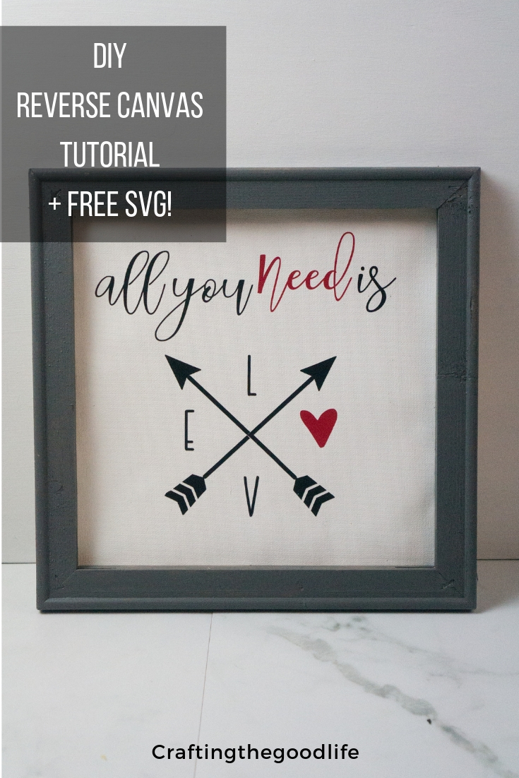 Easy DIY Reverse Canvas Valentine's Day Decor