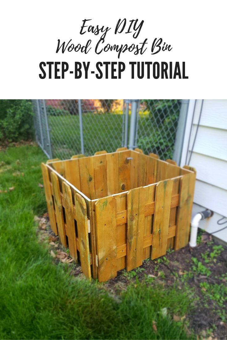 Easy DIY Wood Compost Bin | Composting for Beginners Guide