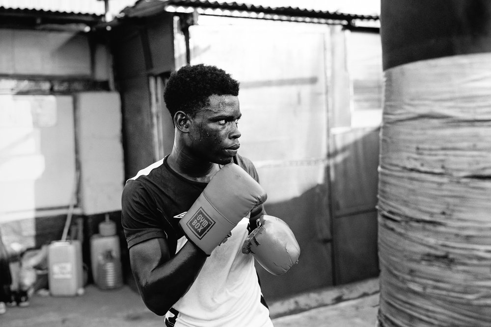 Jamestown, Ghana. Home to some of Africa's most accomplished boxers.