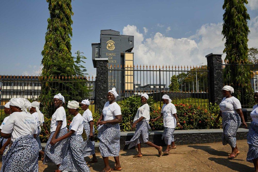 The Liberian women's peace network.