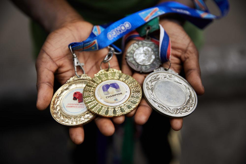 Ndaya's medals.