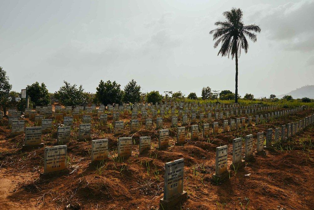Ebola graves, Waterloo,Sierra Leone.