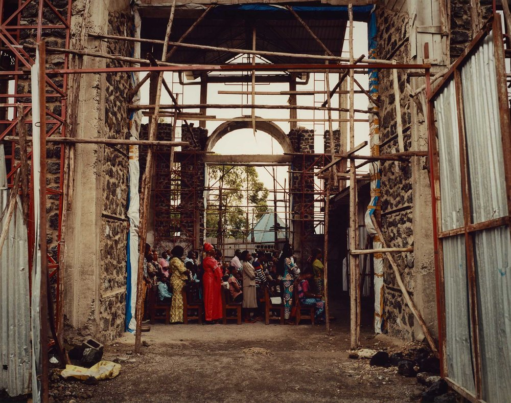 The congregation of the church of the Anuarite de Goma, North Kivu Province, Eastern DRC.