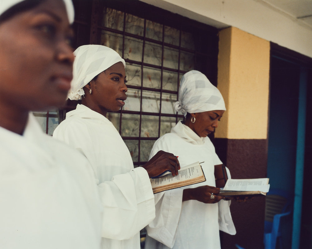 Choir girls practice at St. Augustin, Lemba, Kinshasa.
