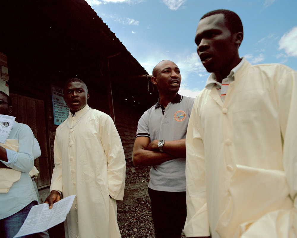 The choir of the church of the Anuarite de Goma, North Kivu Province, Eastern DRC.
