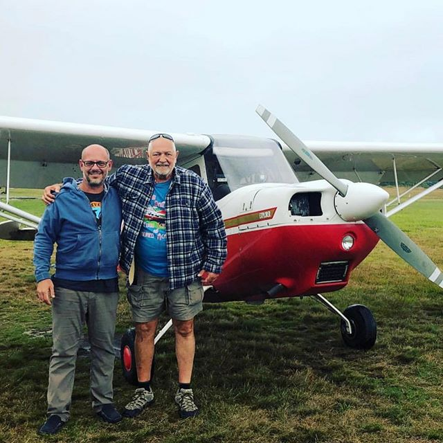 John did his first solo today. Great job on his part. My third solo at Katama this summer in the Citabria!! Bravo! @revelrevelry