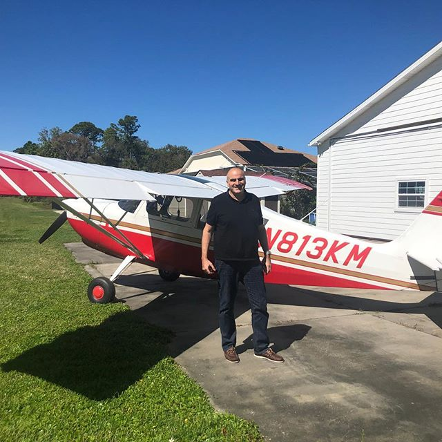 Alfred Moeckli from Switzerland getting his tailwheel endorsement. Al owns a C182 but is enjoying the stick and rudder training.