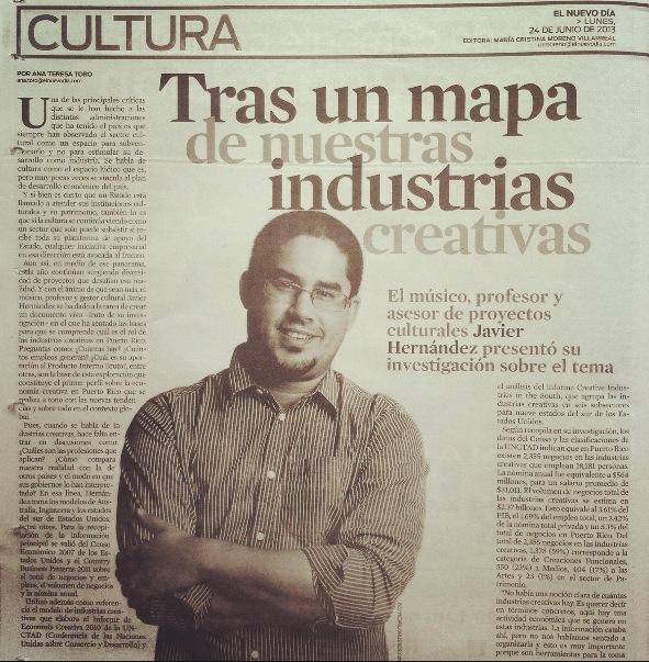 creative economy Puerto Rico, industrias creativas