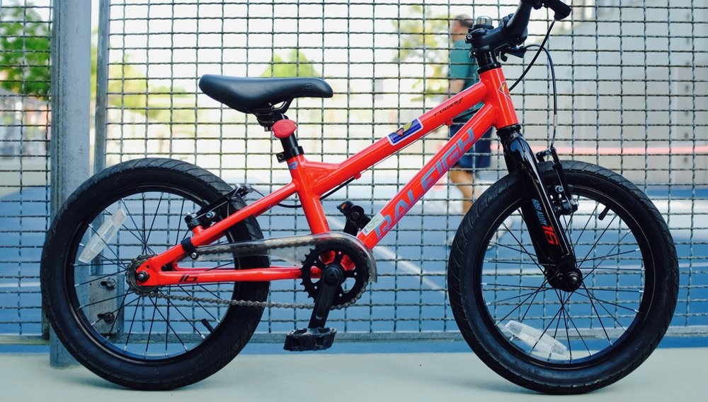 This bike is begging to be pushed to limits far beyond anything a kid could dish out.