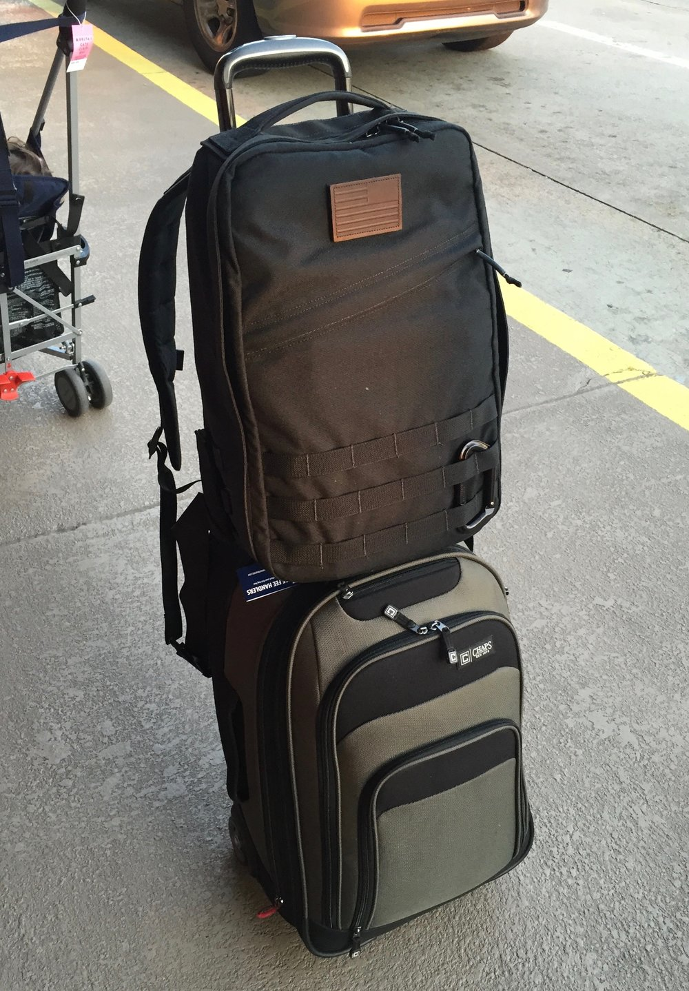 My GR1 riding on an old Chaps luggage I designed in 2011.