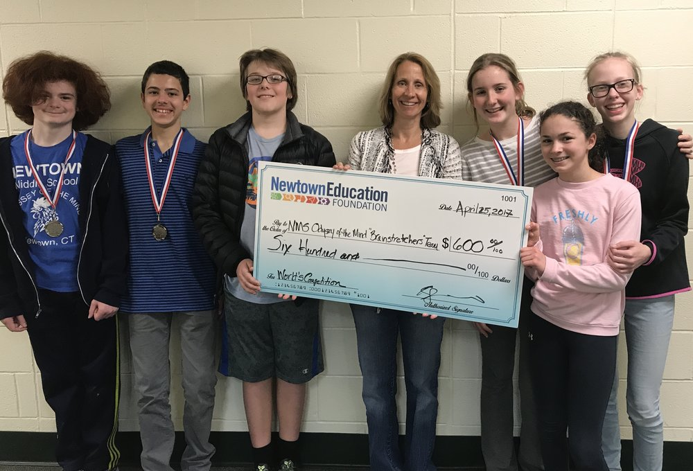 "Newtown Middle School Odyssey of the Mind ""Brainstretchers"" Team"
