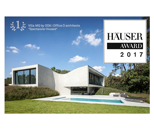 "Click to read more about our 1st prize @Häuser Award 2017 ""Spectacular Houses"" with #VillaMQ"