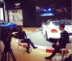 interview with Arab TV for Bentley-Motors