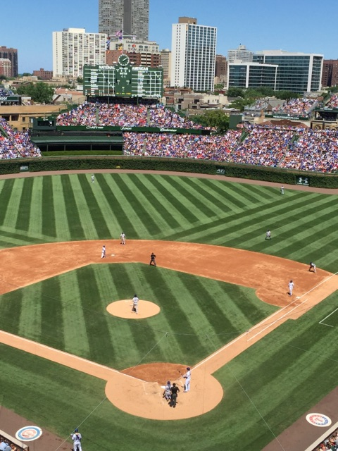 Great views from the Cubs radio box