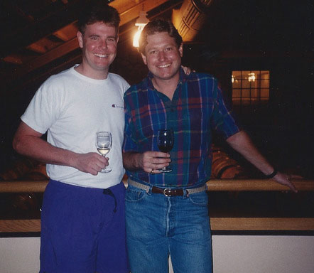 Keith, left, and Rob circa 1990.