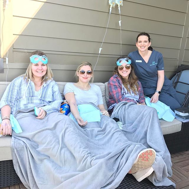 Beautiful morning for a rooftop recovery! #getoveryourhangover #recoveryroomnashville @blairboghos @lexiebeaton @christianafx3