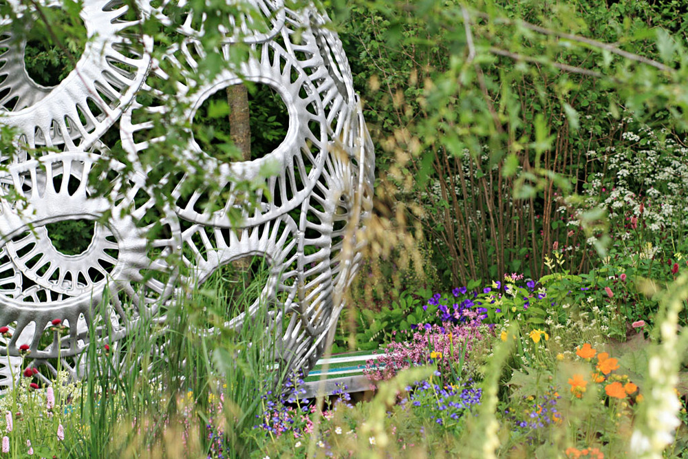 Detail from Rosy Hardy's  Forever Freefolk  garden for Brewin Dolphin, RHS Chelsea Flower Show 2016