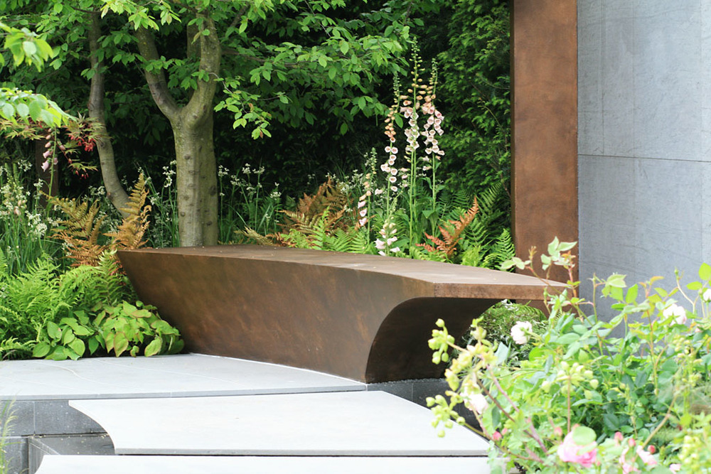 Detail from Jo Thompson's  Chelsea Barracks Garden  for Qatari Diar, RHS Chelsea Flower Show 2016
