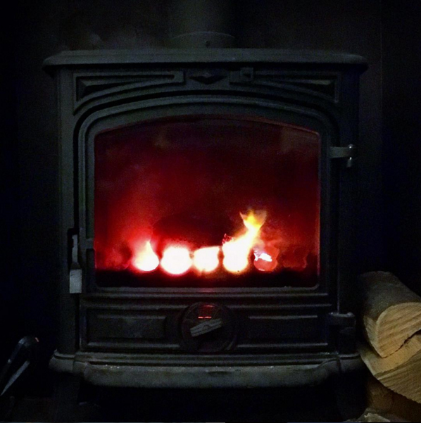 …and a cosy fire at the end of the day.
