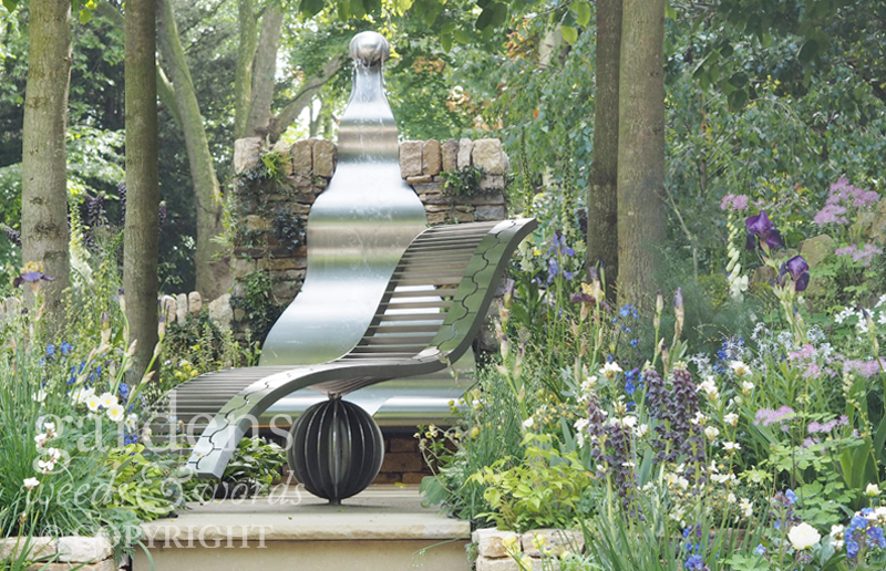 RHS Chelsea Flower Show 2017: detail from  The Poetry Lover's Garden , designed by  Fiona Cadwallader