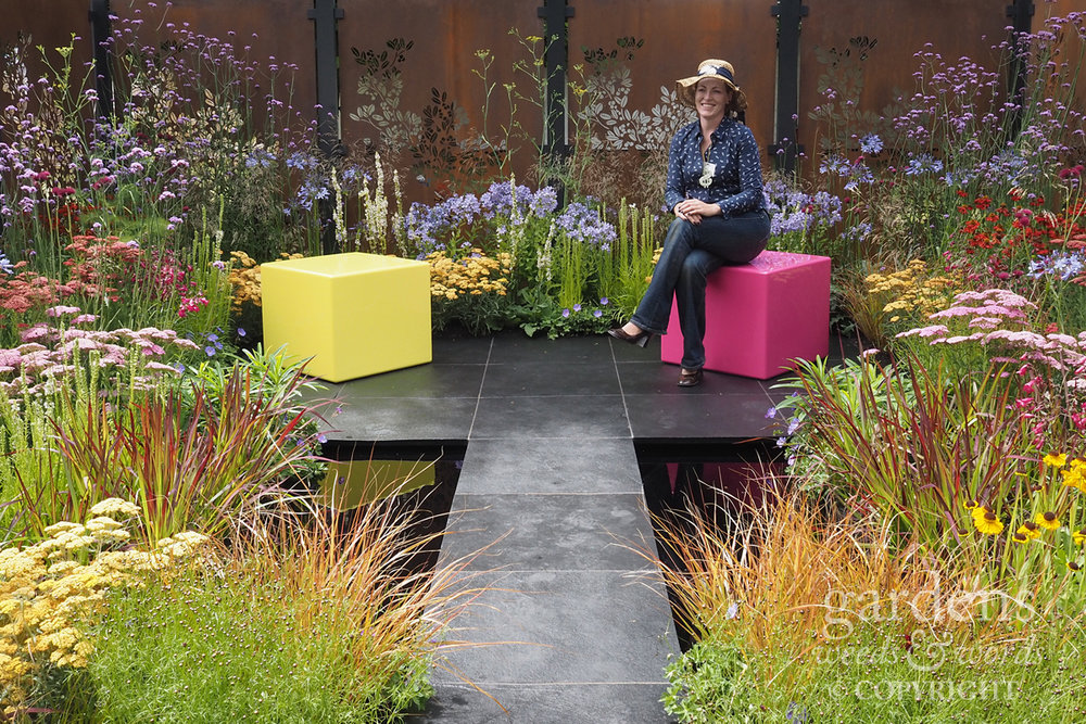 Charlie Bloom on her  Colour Box  garden at RHS Hampton Court Flower Show 2017