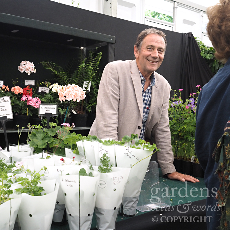A rare shot of Richard from Fibrex Nurseries at RHS Hampton Court Flower Show.