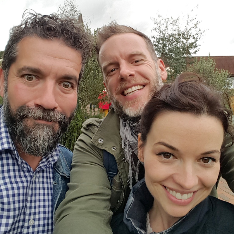 Ad and Sophie from Agents of Field, with a muppet on the left. Photo pinched from their  Twitter feed , as it was better than the selfie I took with my TRex arms