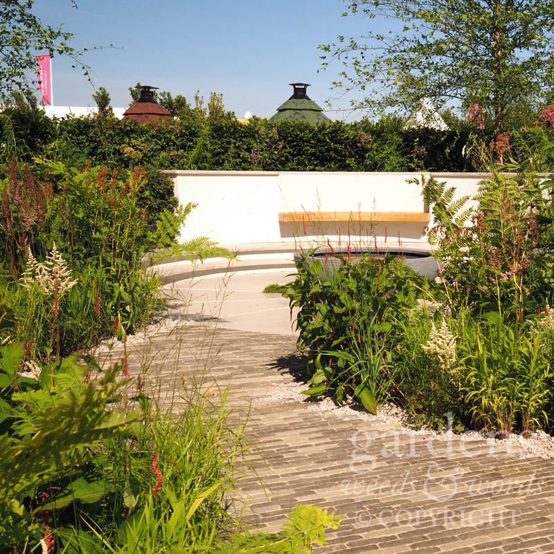 Detail from  Tom Simpson's garden for South West Water  at the RHS Hampton Court Flower Show 2018