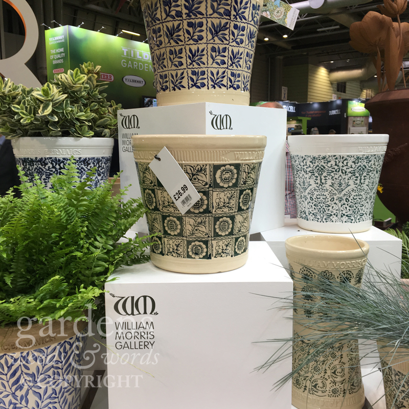 The new Woodlodge William Morris range of garden pots and containers