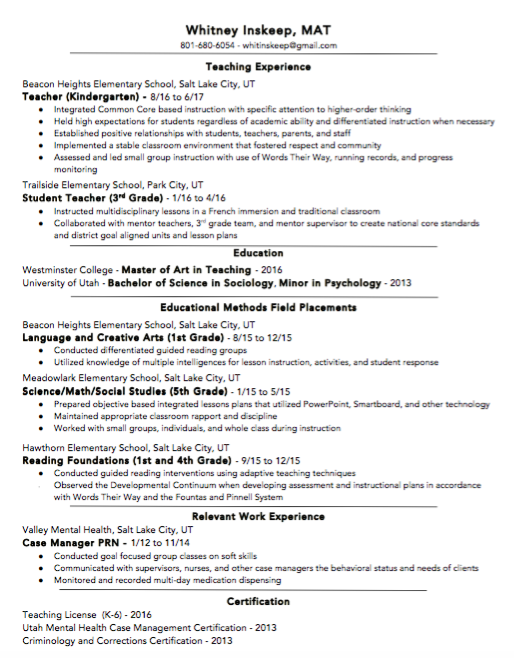 Resume Whitney Atkinson Mat