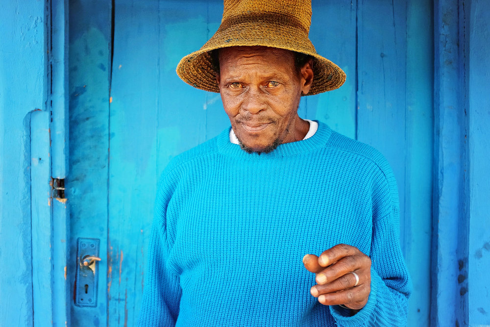A portrait of a Mosotho man on a Sunday afternoon in the mountainous kingdom of Lesotho.