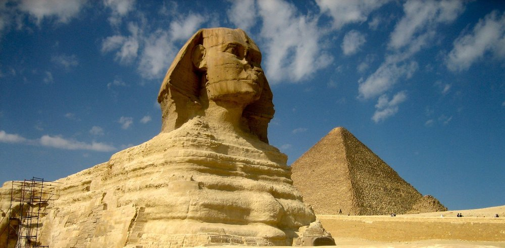 Day 8 (continued):   - We visit the grandeur with private time in the King's Chamber of the Great Pyramid and the Sphinx.