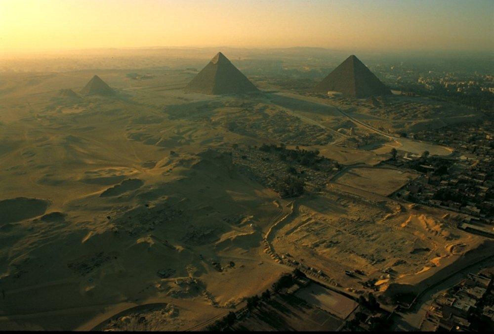 Aerial view of Pyramids