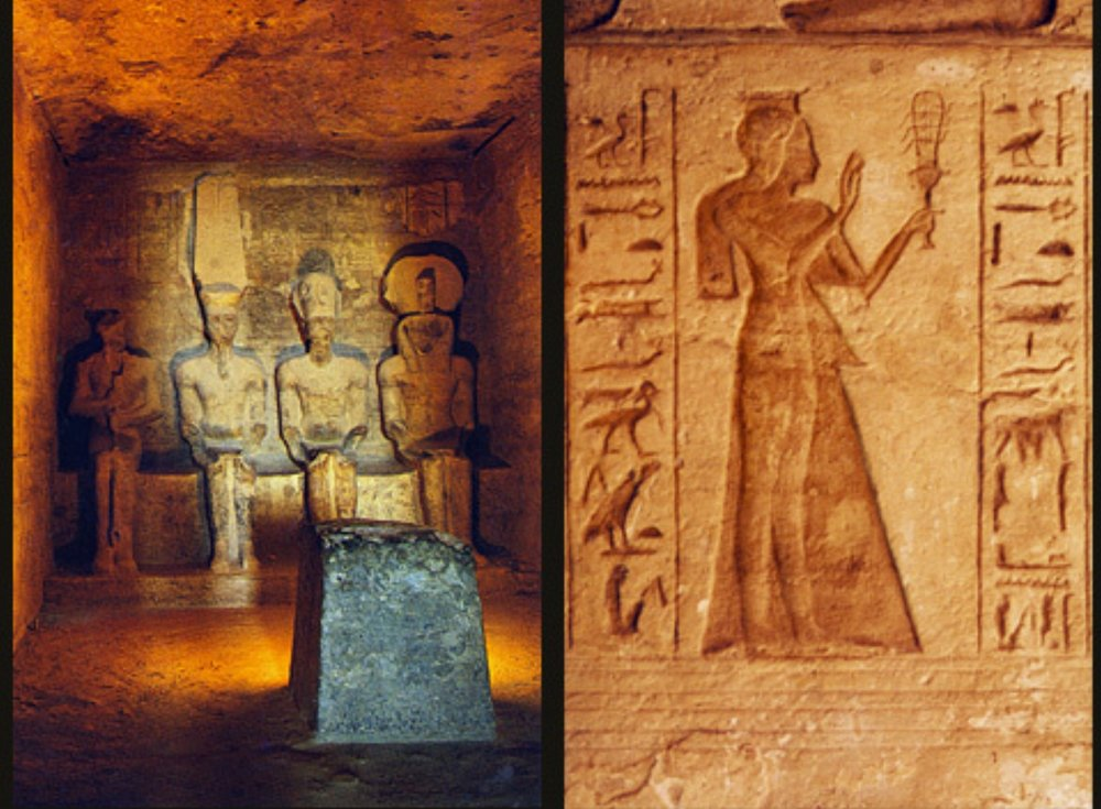 Statues of Gods Ptah, Amun-Ra, Rameses II (as a god) and Ra-Horakhty