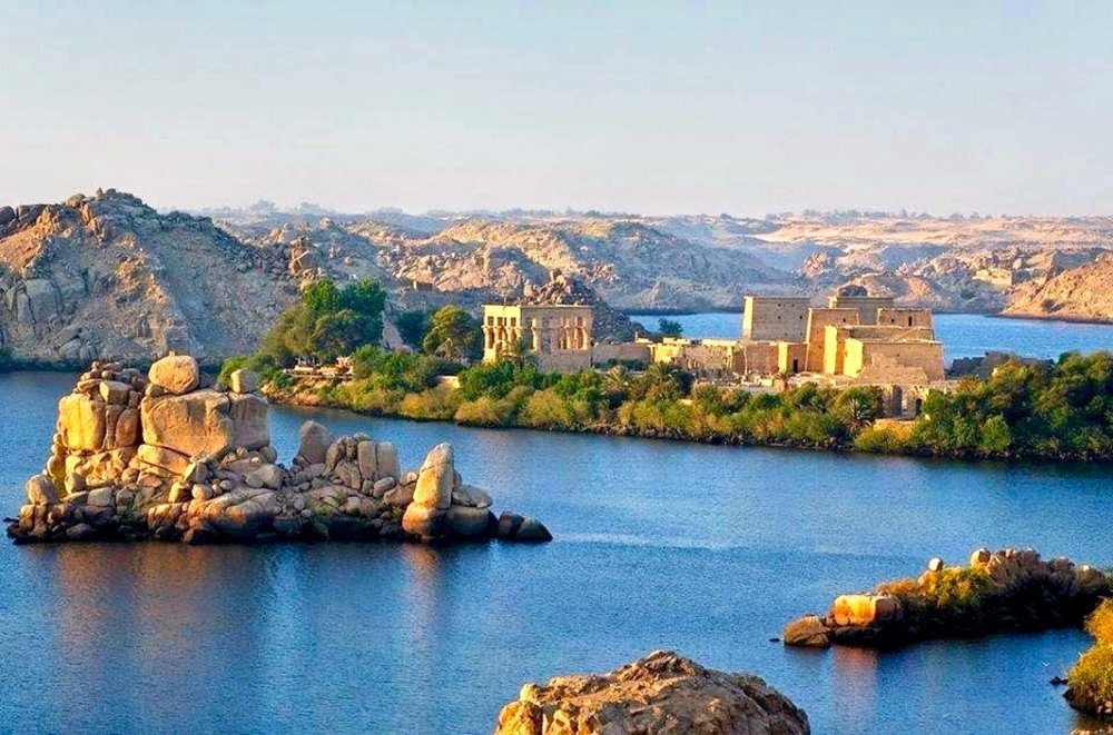 Aerial view of Temple of Isis at Philae