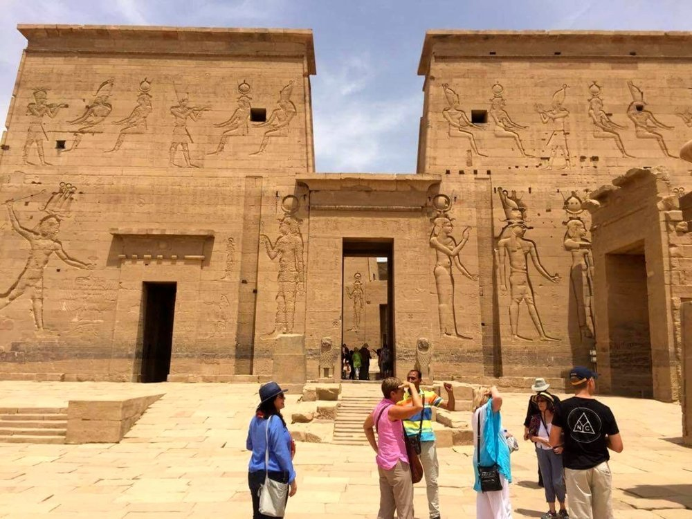 Front entrance to Temple of Isis