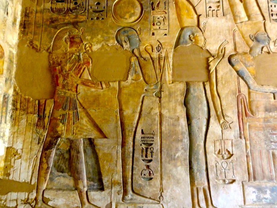 Ptah with the King and Queen