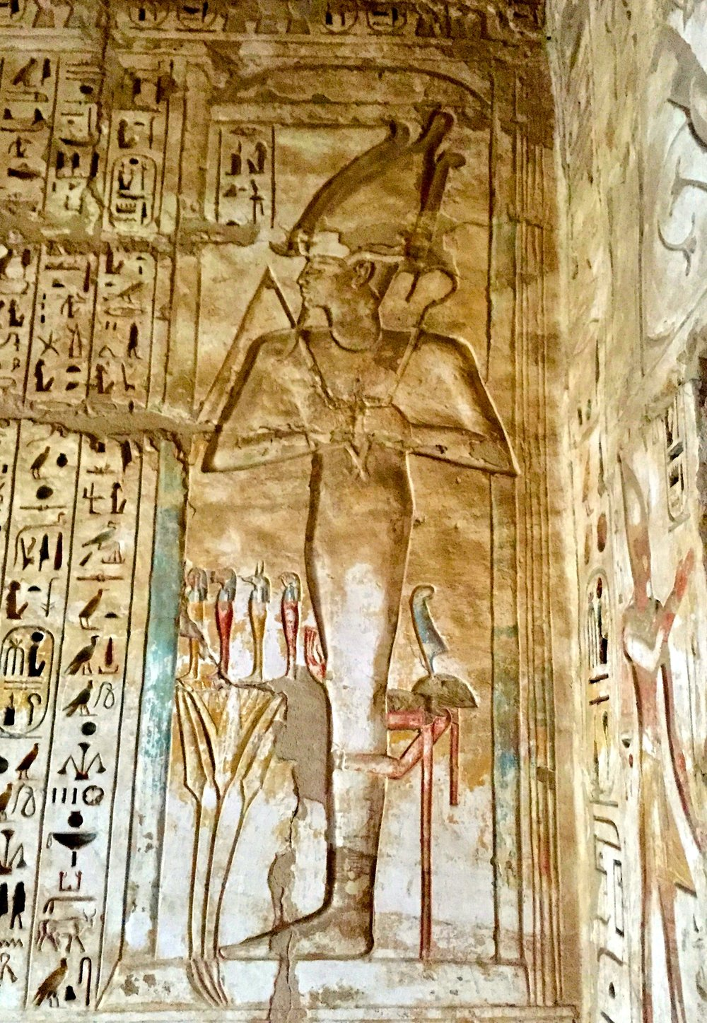 God Osiris in the Paradise Chapel
