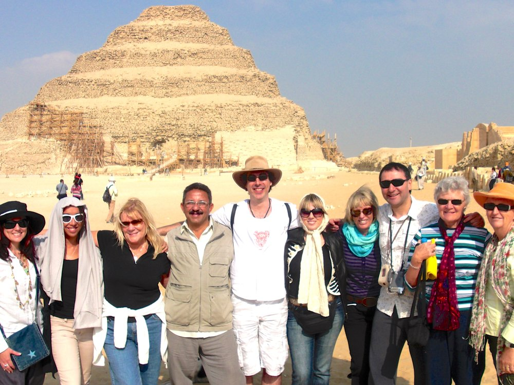 January 2010 Group at Step Pyramid, Sakkara
