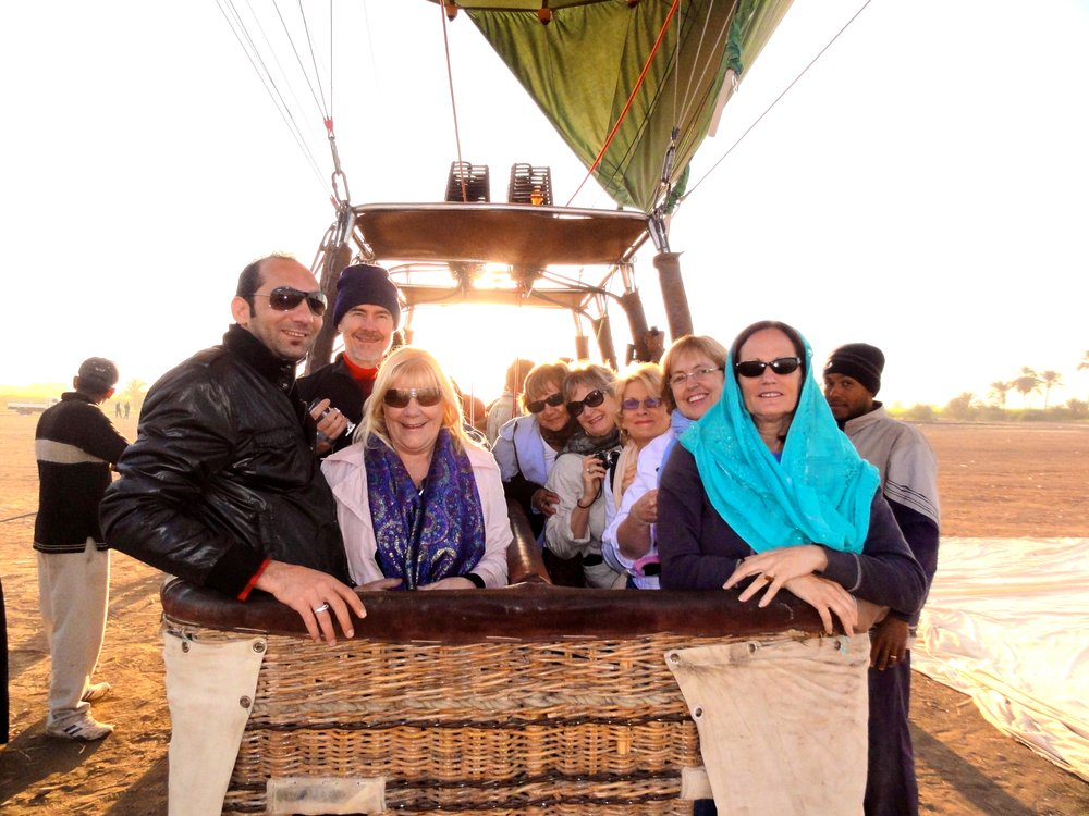 November 2010 Group hot air balloon ride, west bank Luxor