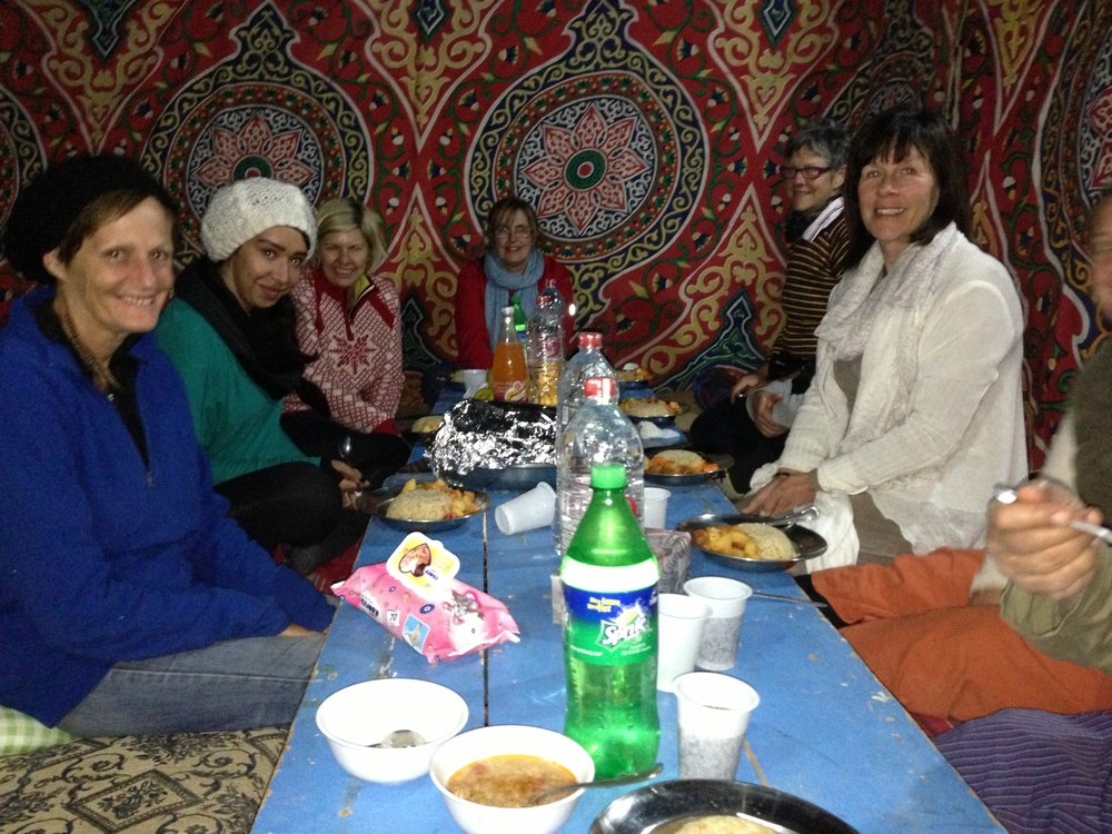 2012 Group Dining Bedouin style in the White Desert