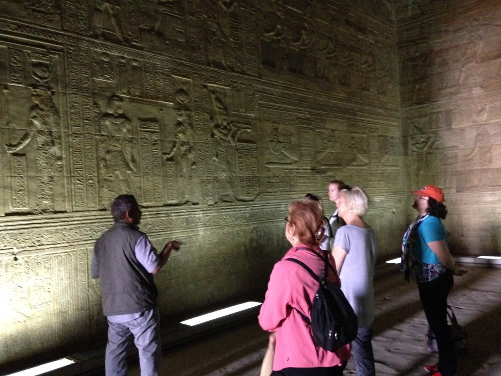 2014 Group with Sabry at Temple of Hathor at Dendera