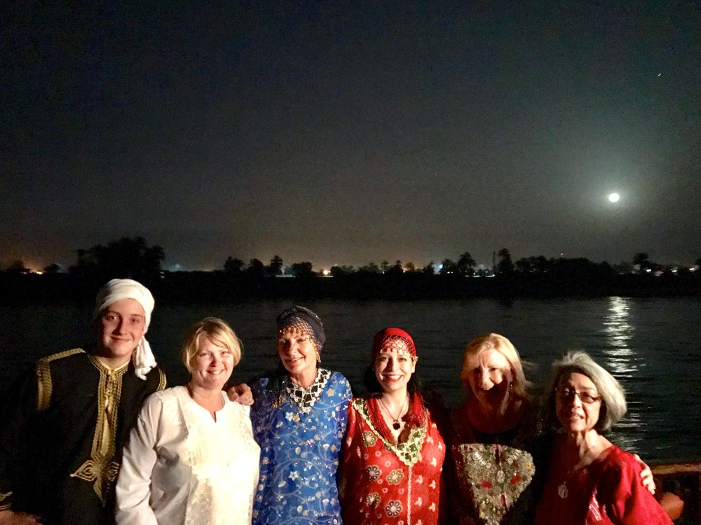 April 2017 Group Galabeya Night on board the Dahabeya Nebyt