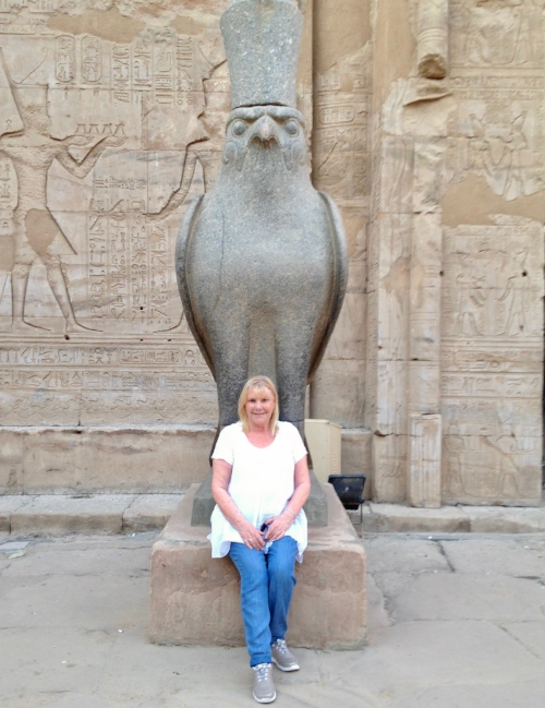 2015 with Horus at Edfu Temple