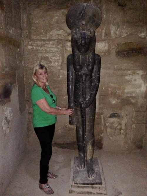 2013 with Sekhmet at Karnak Temple